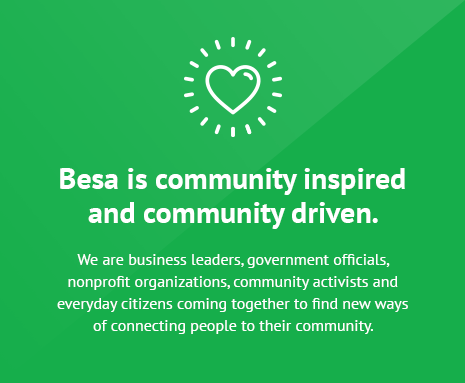 Besa is community inspired and community driven.